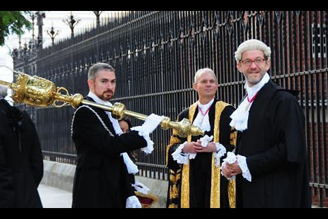 Lord chancellor and mace